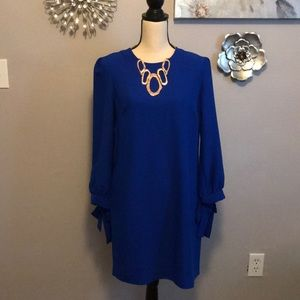 Banana republic bright blue dress